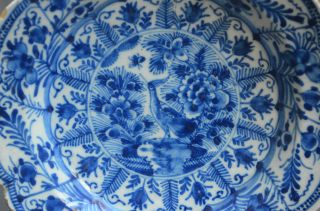 Authentic Early 18th Cent.  Wonderful Delftware Small Plate Peacock - Flower Decor photo