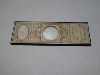 Antique Paper Covered Microscope Slide - Chloride Of Gold And Sodium Ref 79 photo