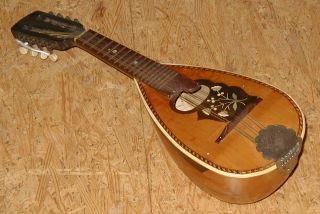 Rare Antique Small German Pocket Mandolin,  Total 48cm,  Collector photo