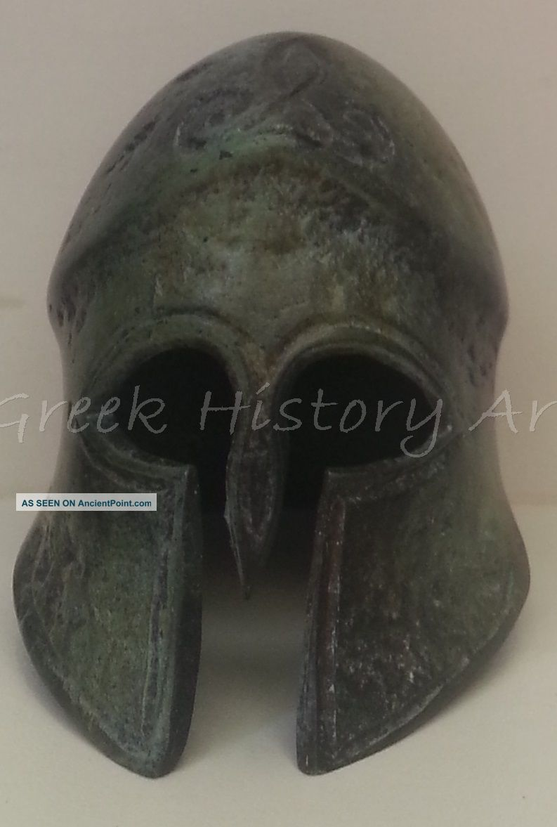 Bronze Spartan Hoplite Helmet Greek photo