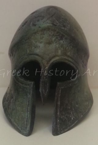 Bronze Spartan Hoplite Helmet photo