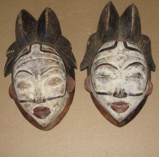 Fine Africa Punu Mask Maiden Spirit Mukudji Gabon African Art Masque photo