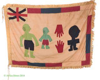 Fante Asafo Flag Appliqued Frankaa Ghana African Art Was $425.  00 photo