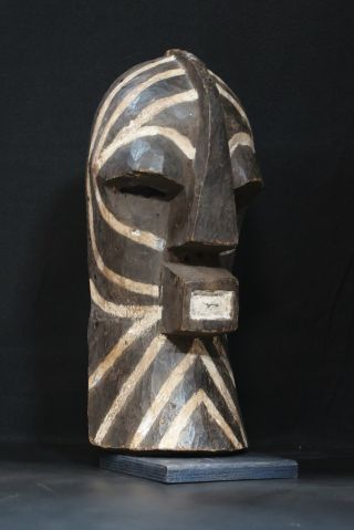 African Tribal Art: Kifwebe Mask,  Songye People,  Democratic Rep.  Of Congo Tt0132 photo