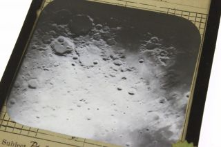Lick Observatory Orig Magic Lantern Photo Moon Crater Albategnius Hyginus Rille photo