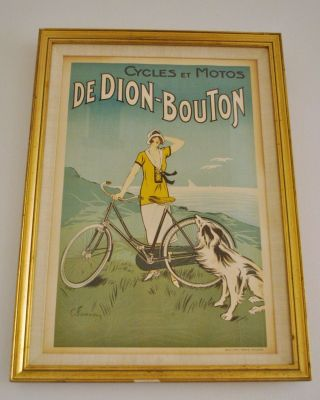 Cycles De Dion - Bouton Advertising Poster Fournery 1923 French photo