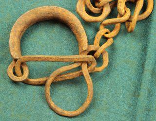 1800 ' S Or Older Slave Leg Chains.  Black Americana photo