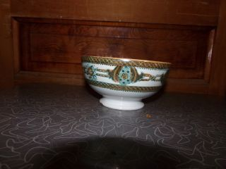 Antique Aesthetic Period German Gaudy Ironstone Bowl photo