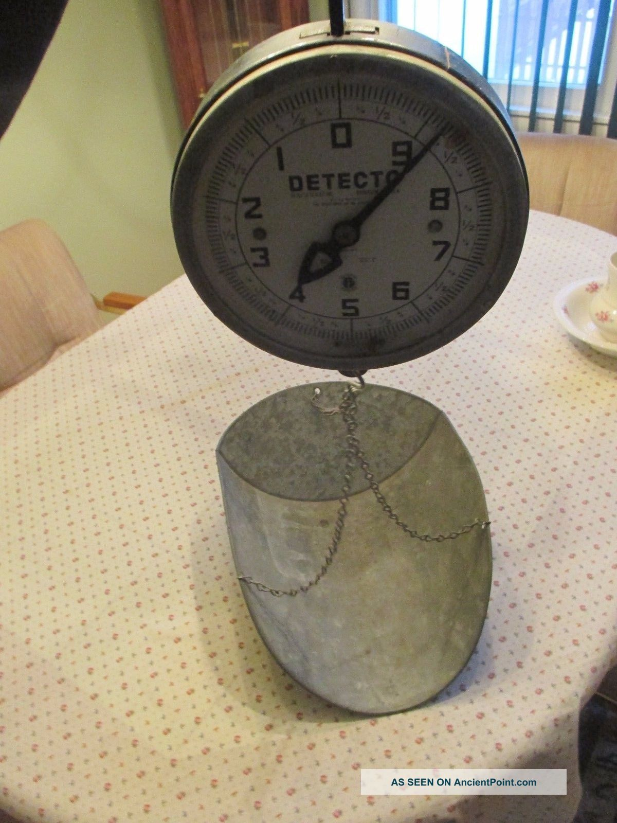 Vintage Detecto 20 Lb Hanging Scale 26 S With Metal Basket Scales photo