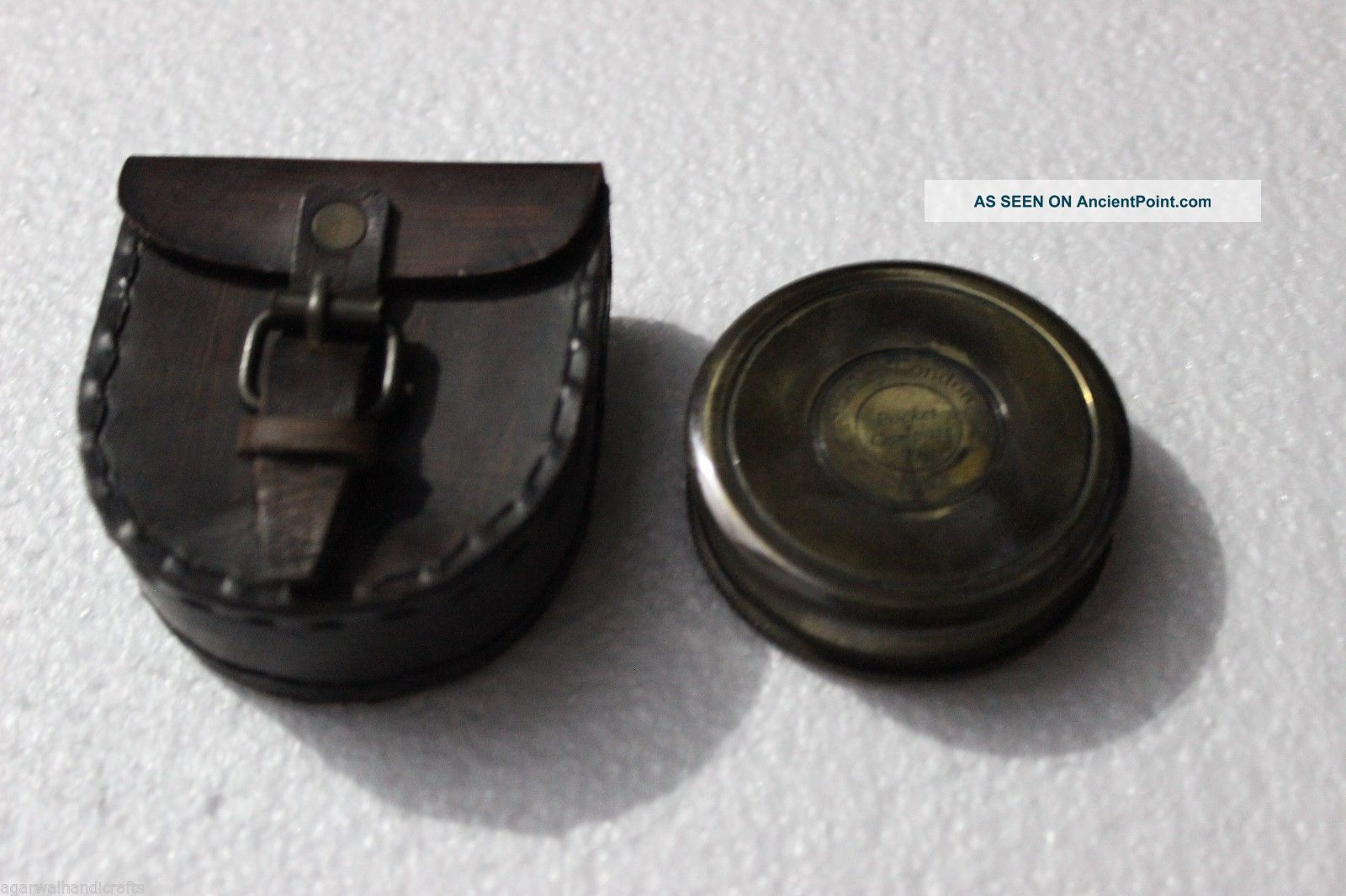 Antique Brass Poem Compass Pocket Compass Robert Frost Maritime Brass Compass Compasses photo