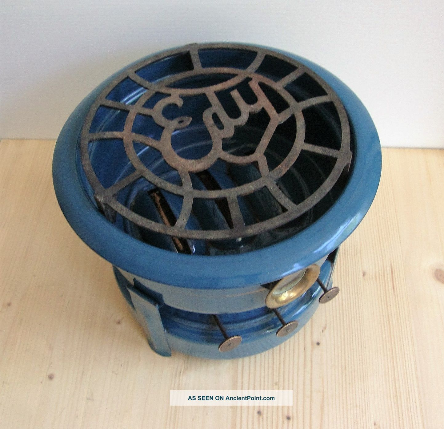 Vintage Enamel Dutch Enamel Kerosene Stove Blue Enamel Cast Iron Edy Stoves photo