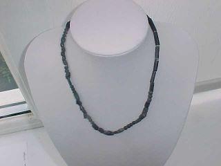 String Roman Black Coloured Glass Beads Circa 100 - 400 A.  D. photo