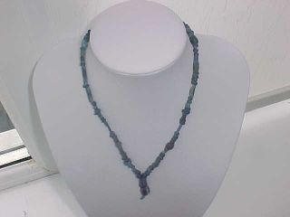 String Roman Dark Blue Coloured Glass Beads Circa 100 - 400 A.  D. photo