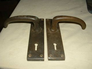 Vintage Heavy Brass Door Handles photo