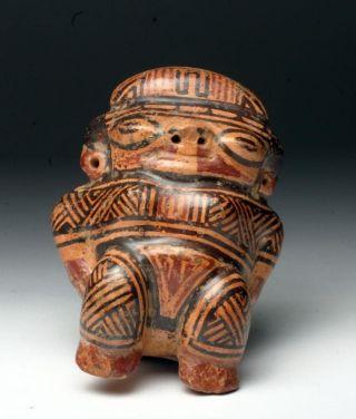 Choice Pre - Columbian Guanacaste - Nicoya Polychrome Female Effigy photo