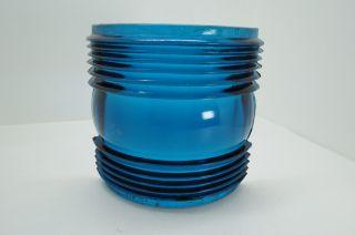 Blue Perkins Glass Lens For Boat Ship Lamp Light Decor (315) photo