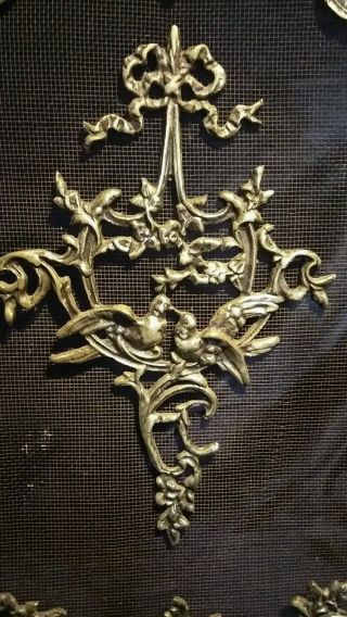 19th Century French Glit Bronze Firescreen photo