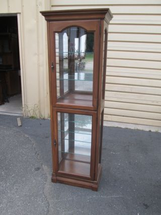 55838 Cherry China Cabinet Curio W/ Light photo