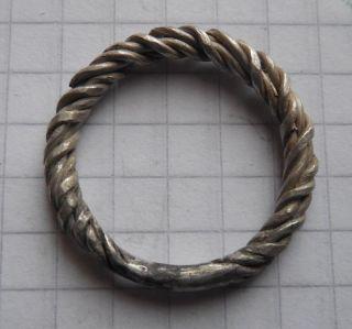 Thin Hard Wicker Ring Viking Period 3,  00 G Vf, photo