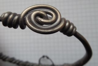 Viking Period Big Silver Bracelet With Double Torsion Wire &silver Ring Vf, photo
