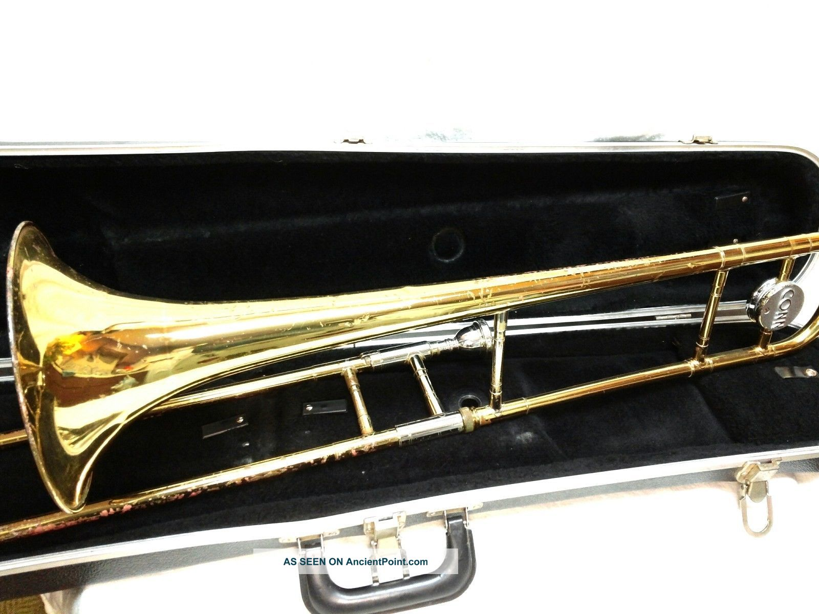 Vintage Conn Director Trombone 14h Horn W/conn 12c Mouthpiece & Case Gr470607v Wind photo