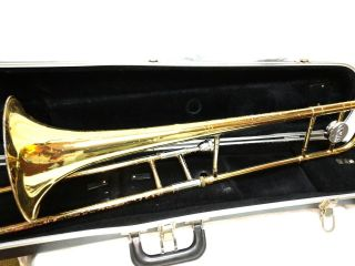Vintage Conn Director Trombone 14h Horn W/conn 12c Mouthpiece & Case Gr470607v photo