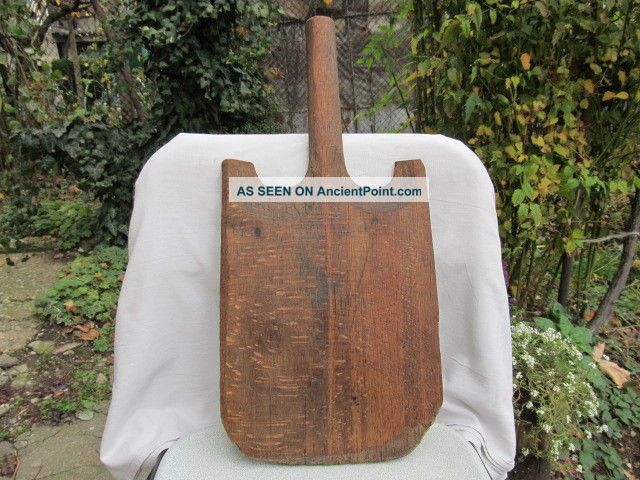 Old Antique Primitive Wooden Wood Bread Cutting Board Plate Primitives photo