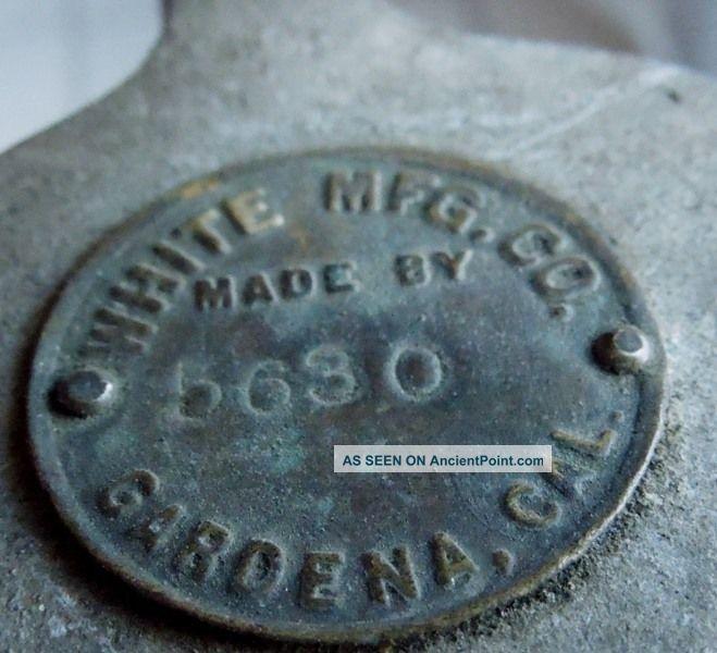 Rare Antique Egg Scale White Mfg Co.  Gardena California Scales photo