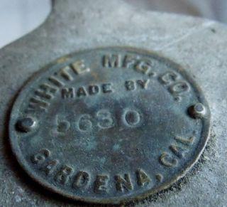 Rare Antique Egg Scale White Mfg Co.  Gardena California photo
