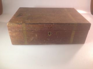 Small Vintage Wooden Storage Box photo