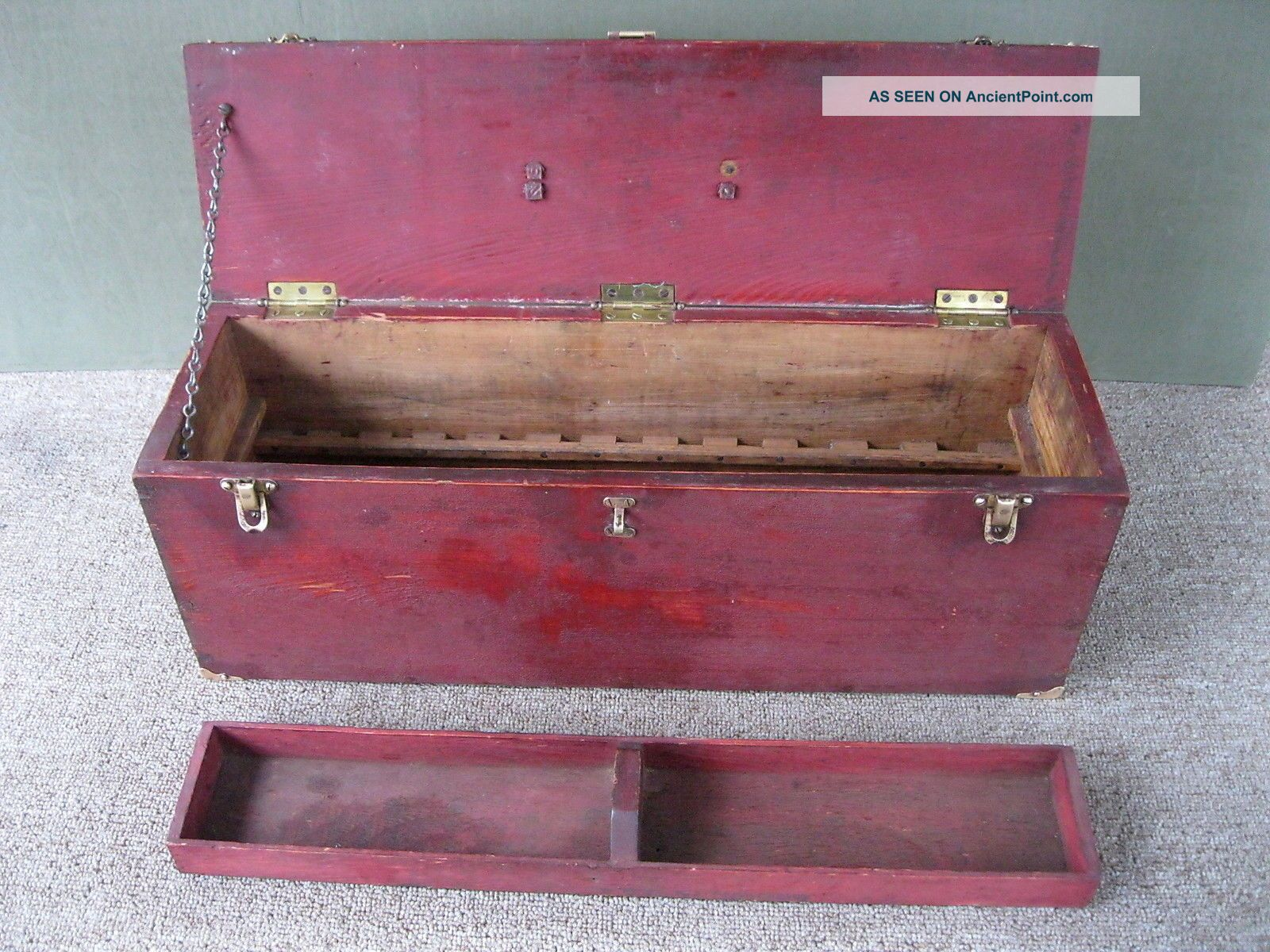 Antique Tool Box Vintage 24
