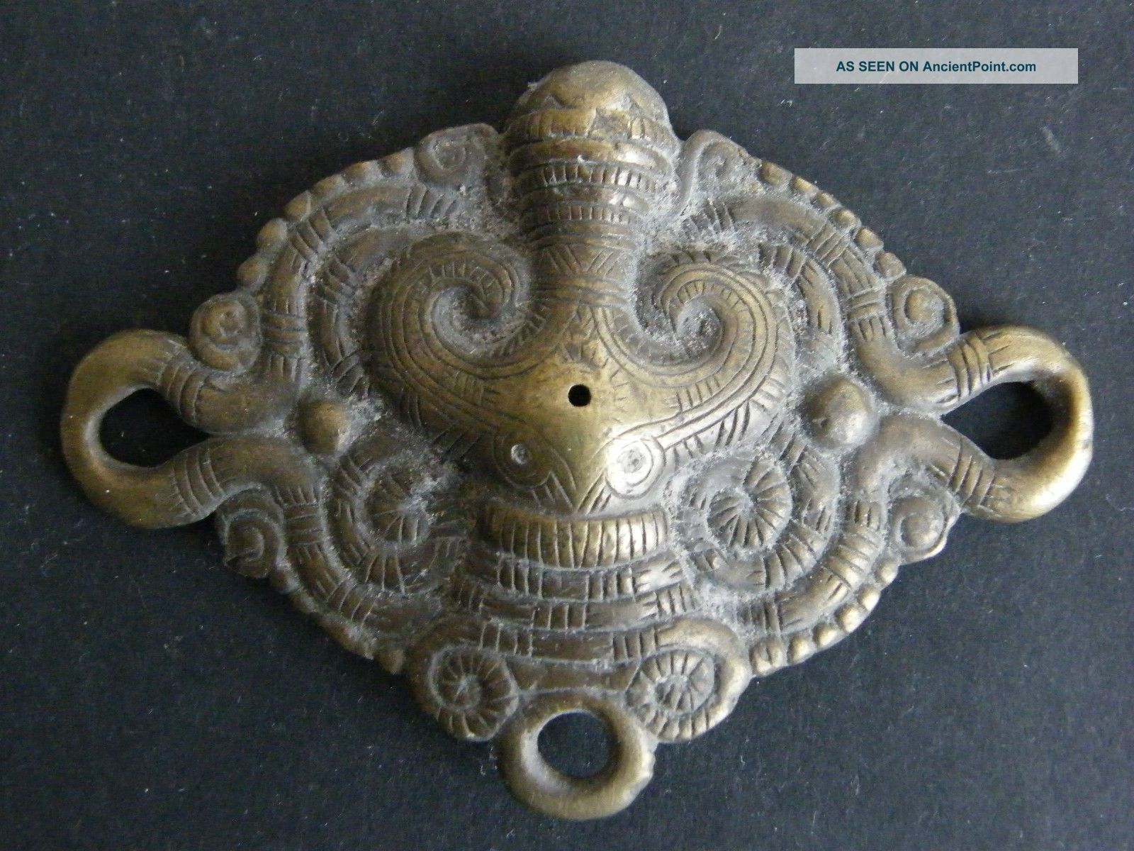 Batak,  Sumatra - Antique Cast Brass Belt Ornament Pacific Islands & Oceania photo