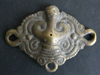 Batak,  Sumatra - Antique Cast Brass Belt Ornament photo