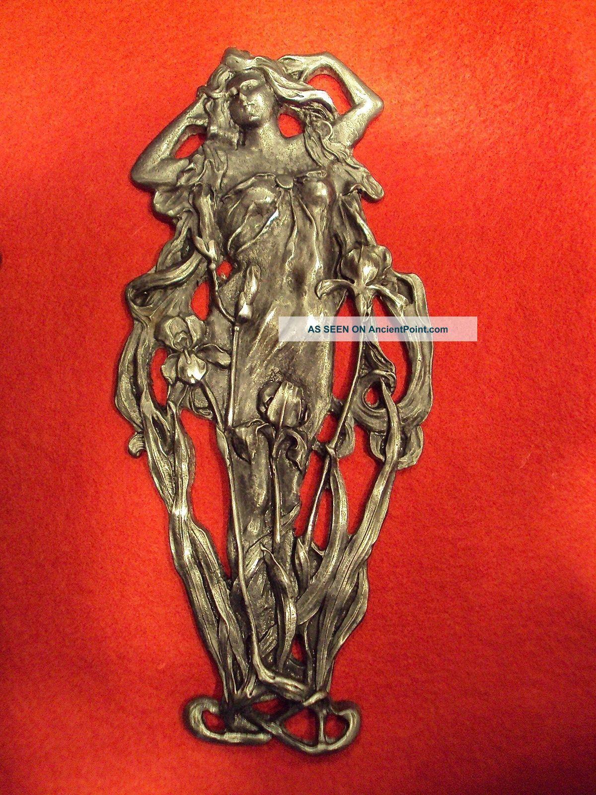 Art Nouveau Alfons Mucha Ornament Figurine C.  1910 Art Nouveau photo