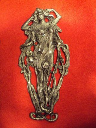 Art Nouveau Alfons Mucha Ornament Figurine C.  1910 photo