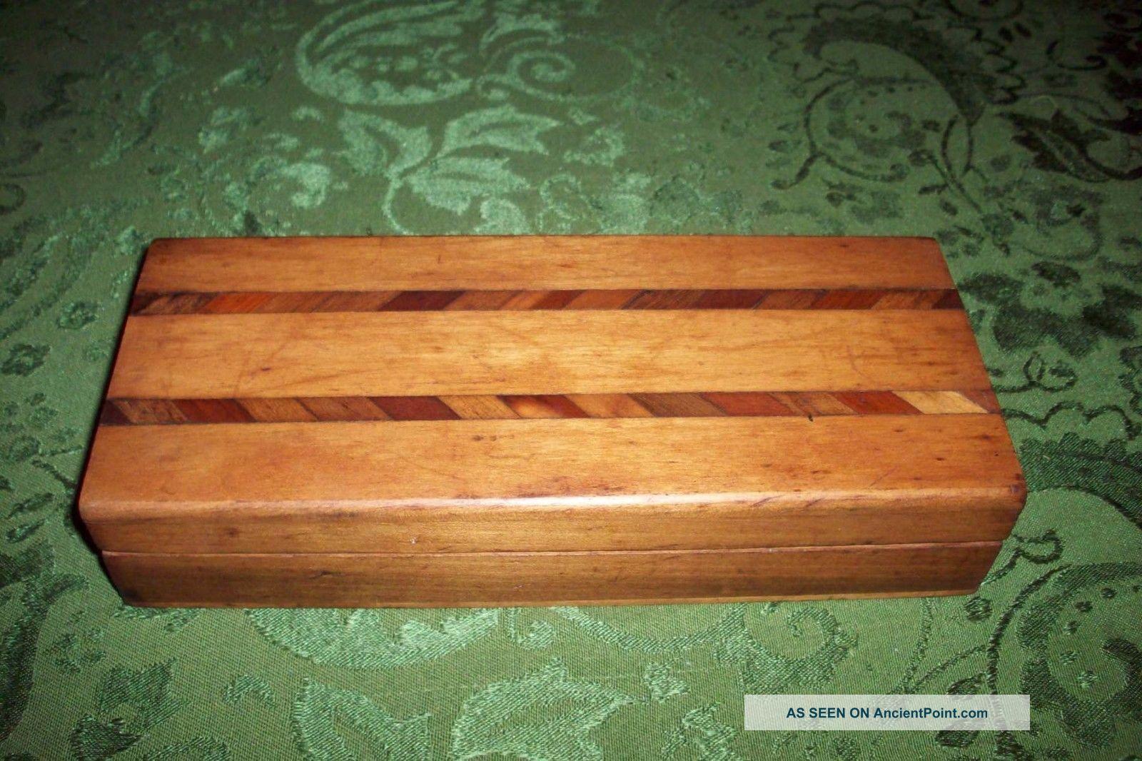 Vintage Art Deco Wooden Jewerly Box V/good Art Deco photo