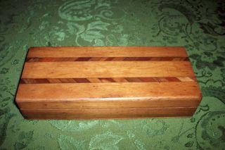 Vintage Art Deco Wooden Jewerly Box V/good photo