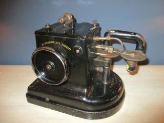 Vintage Allbook Hashfield Success Fur Industrial Sewing Machine photo
