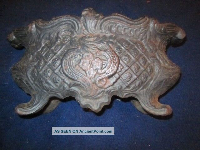 Antique Floral Embossed Cast Iron 12