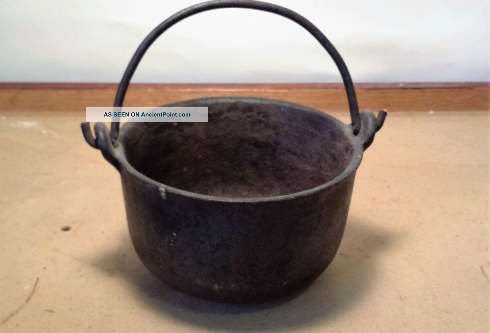 Cast Iron Smelting Pot Cauldron Lead Melter Swett 7 Primitives photo