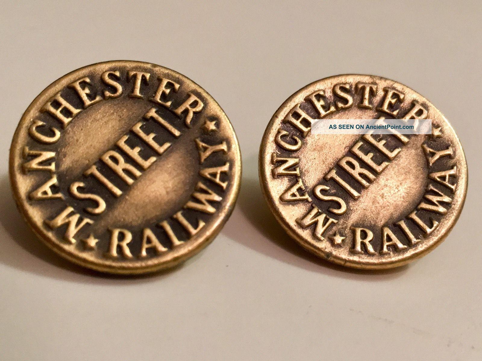 Antique Manchester Street Railway Uniform Buttons Buttons photo