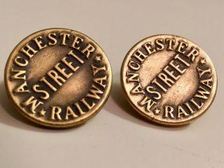 Antique Manchester Street Railway Uniform Buttons photo