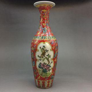 Chinese Ceramic Painting By Hand Peony - Vase photo