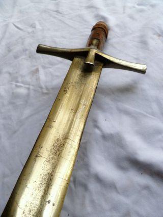 Antique Kaskara Arab Islamic Sudanese Ethiopian Sword.  Omdurman Spear Shield photo
