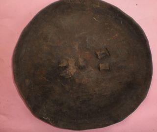 Ethiopian Shield Leather Animal Hide Embossed African Art Ethiopia Africa Rare photo
