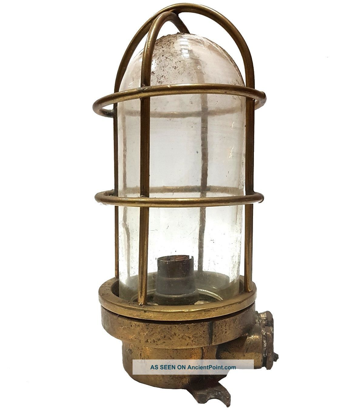 Nautical Vintage Maritime Antique Brass Bracket Passage Bulkhead Light Mc 021 Lamps & Lighting photo