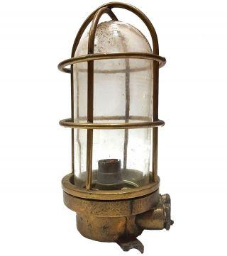 Nautical Vintage Maritime Antique Brass Bracket Passage Bulkhead Light Mc 021 photo