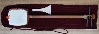 Vintage Shamisen Japanese Harp 1950s Japan Instrument Craft photo