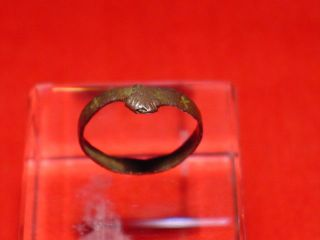 Medieval - Frend / Wedding Ring - 13 - 14 Th Century Rare photo