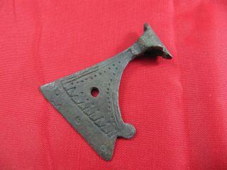 Ancient Viking Bronze Axe Head Amulet Pendant 900 - 1000 Ad Runes Symbols photo